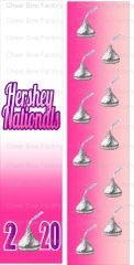 Hershey Nationals Kisses 2020 Cheer Bow Ready to Press Sublimation Graphic