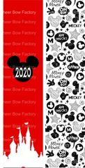 2020 Mickey Cheer Bow Ready to Press Sublimation Graphic