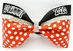 D2 Summit NCA 2020 Rhinestone Tailless Cheer Bow