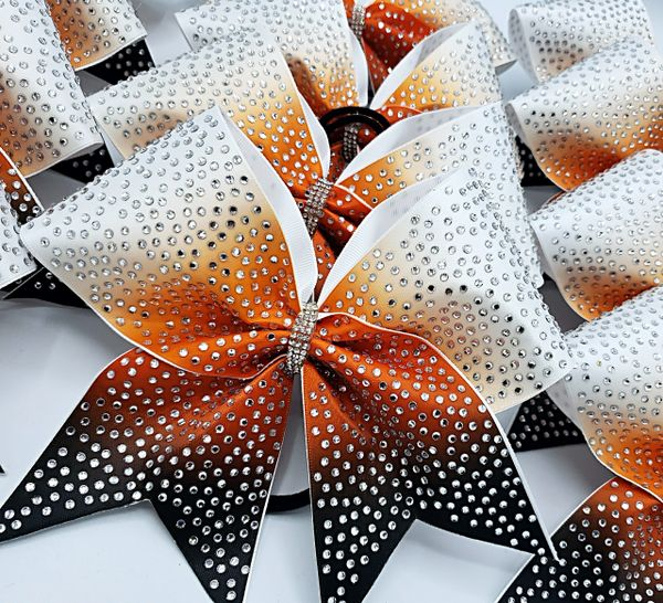 The Harper Satin & Rhinestone Cheer Bow