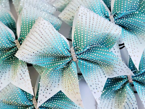 The Eve Satin & Rhinestone Cheer Bow