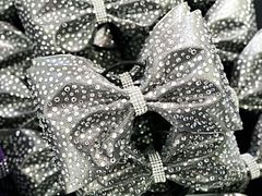 The Brittney Mystique Fabric & Rhinestone Tailless Cheer Bow