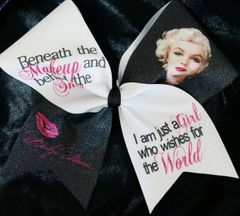 Marilyn Monroe Makeup Cheer Bow