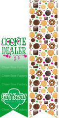 Cookie Dealer Girl Scout Sublimation Cheer Bow Graphic
