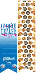Cookie Dealer Daisy Girl Scout Sublimation Cheer Bow Graphic