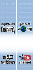I'm Practically a Cheerlebrity Sublimation Cheer Bow Graphic