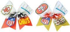Super Bowl 49ers & Chiefs 2020 Ribbon Cheer Bow