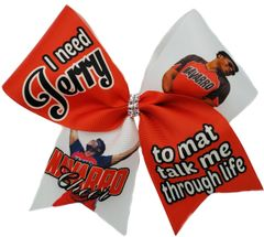 I need Jerry to mat talk me through life Cheer Bow