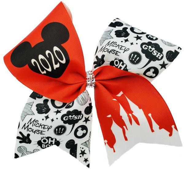 2020 Mickey Glitter Vinyl Cheer Bow