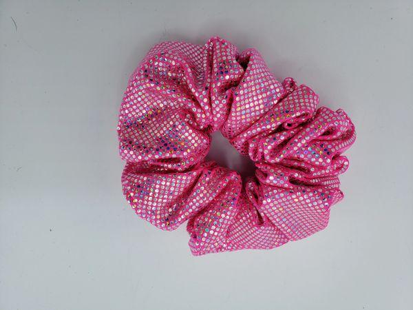 Pinki Holgram Fabric Scrunchie