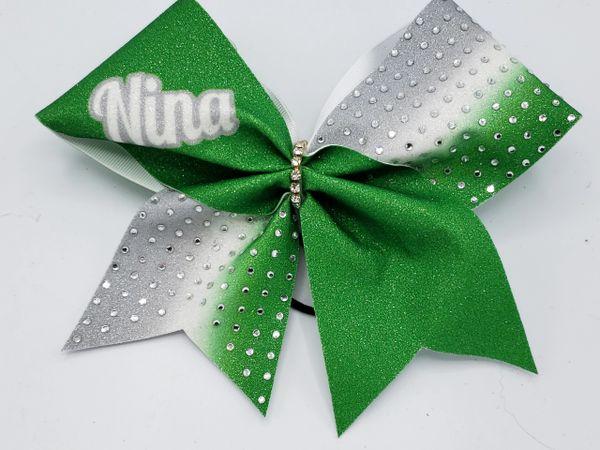 Personalized Rhinestone Nina Cheer Bow