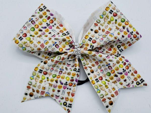 Emoji Glitter Vinyl Clearance Cheer Bow