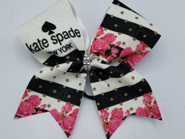 Kate Spade Floral Glitter Vinyl Clearance Cheer Bow