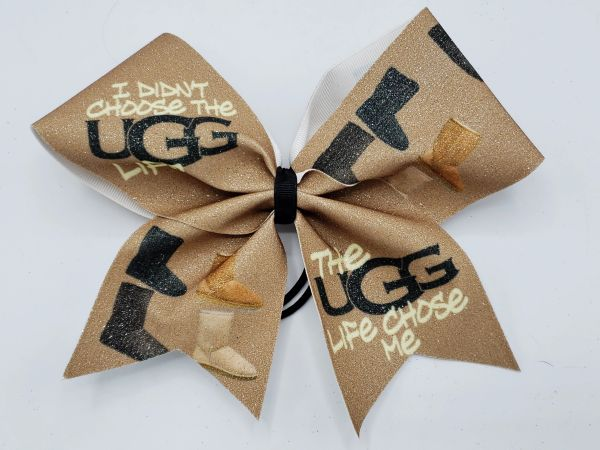 Ugg Life Glitter Vinyl Clearance Cheer Bow