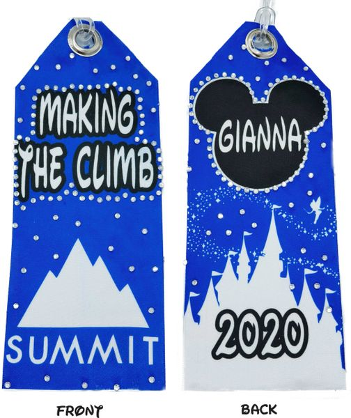 Summit Personalized Rhinestone & Satin Bag Tag - custom colors