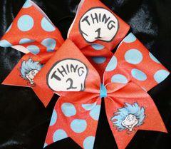Thing 1 & Thing 2 Cheer Bow Pair