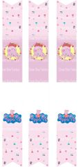 Peppa Pig Key Chain Cheer Bow Ready to Press Sublimation Graphic