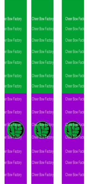 The Hulk Key Chain Cheer Bow Ready to Press Sublimation Graphic