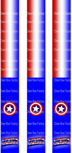 Captain America Key Chain Cheer Bow Ready to Press Sublimation Graphic