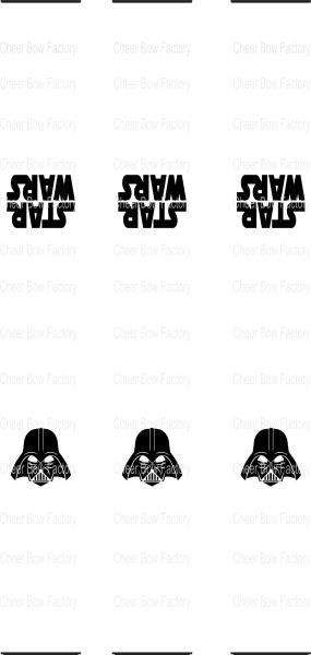 Star Wars Key Chain Cheer Bow Ready to Press Sublimation Graphic