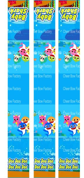 Baby Shark Key Chain Cheer Bow Ready to Press Sublimation Graphic