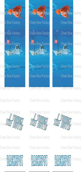 Nemo Key Chain Cheer Bow Ready to Press Sublimation Graphic