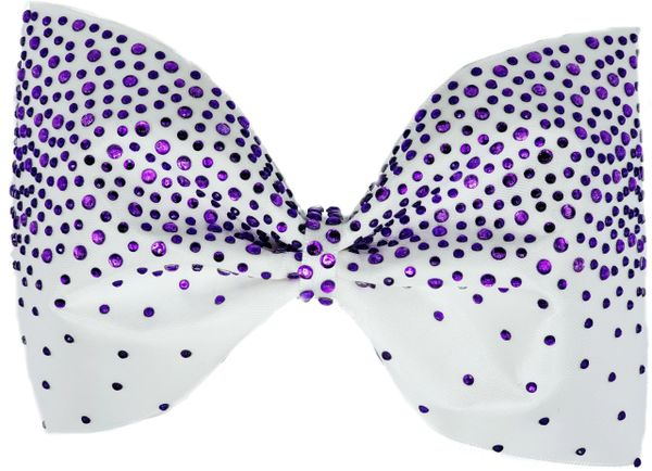 Purple Stone Tailless Cheer Bow