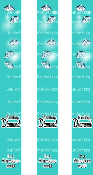 It's Hard Being A Diamond Key Chain Cheer Bow Ready to Press Sublimation Graphic