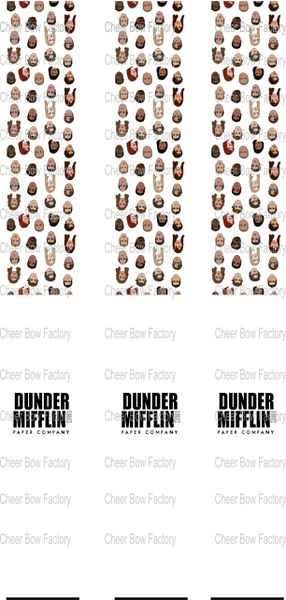 Dunder Mifflin The Office Key Chain Cheer Bow Ready to Press Sublimation Graphic