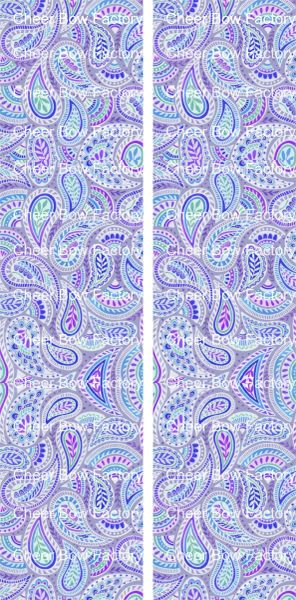 Paisley Purple Ready to Press Sublimation Graphic
