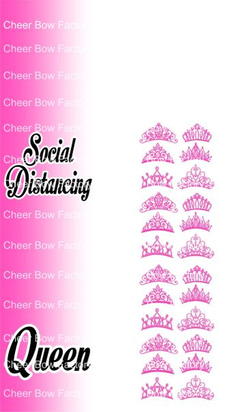 Social Distancing Queen Ready to Press Sublimation Graphic