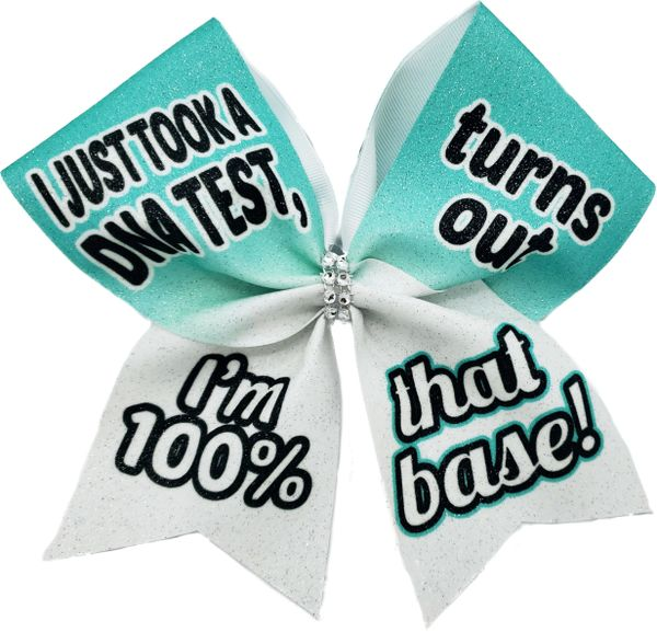 I Just Took a DNA Test Base Cheer Bow