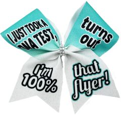 I Just Took a DNA Test Flyer Cheer Bow