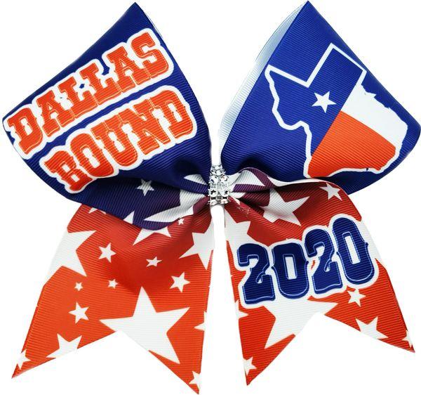 Dallas Bound Texas Nationals Glitter Cheer Bow