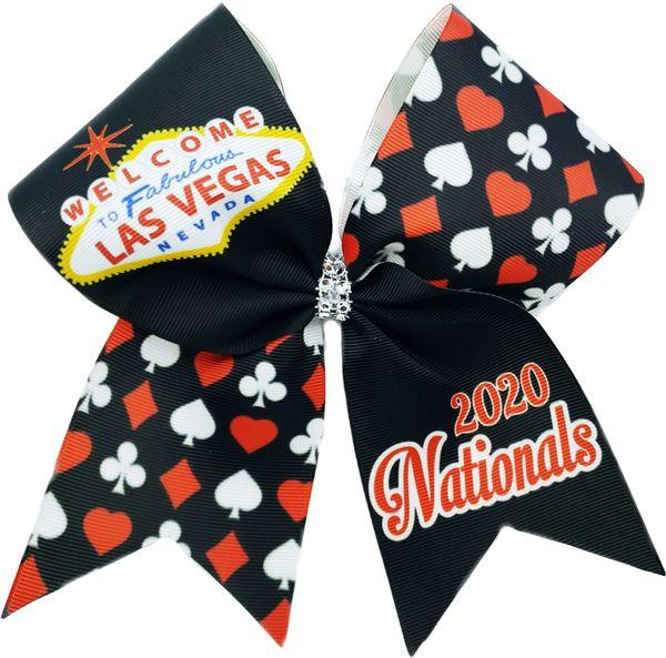 Las Vegas Nationals Glitter Cheer Bow
