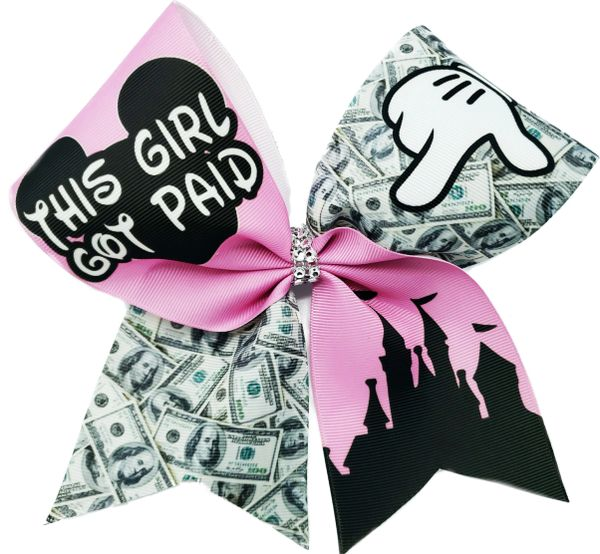 This Girl Got Paid Nationals Disney Cheer Bow