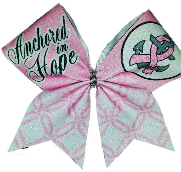 Anchored in Hope Breast Cancer Awareness Cheer Bow
