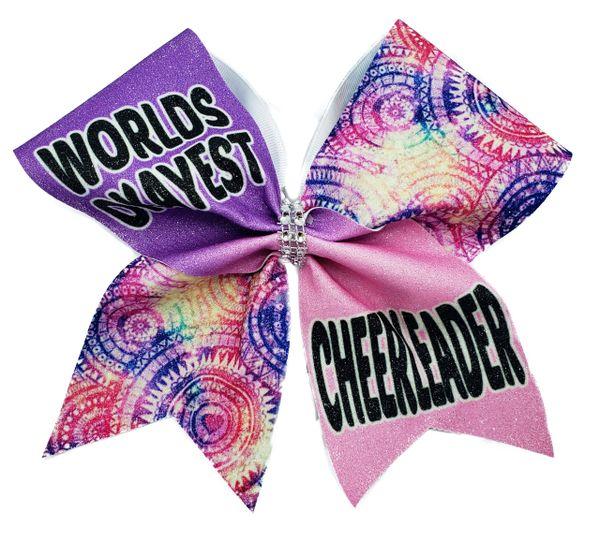 Worlds Okayest Cheerleader Cheer Bow