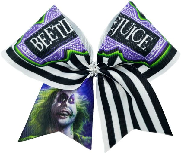 Beetlejuice Cheer Bow