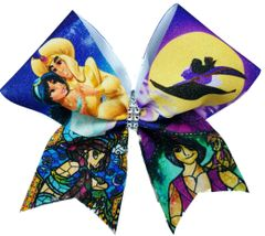 Aladdin Stained Glass Cheer Bow