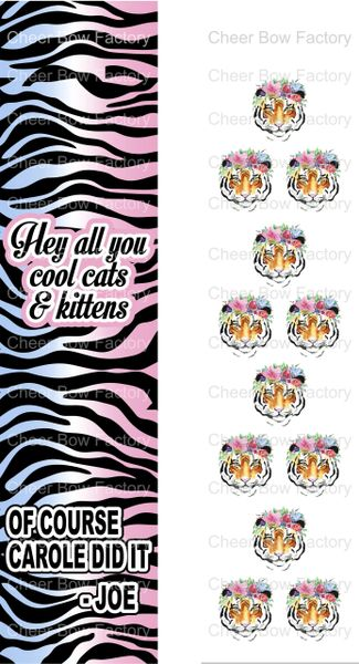Hey All You Cool cats and kittens Tiger King Ready to Press Sublimation Graphic