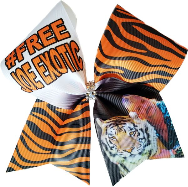 Tiger King Joe Exotic Cheer Bow