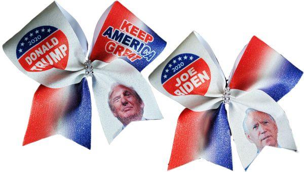 Trump & Biden 2020 Glitter Vinyl Cheer Bow