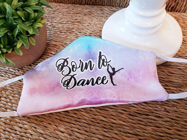 Born to Dance Satin Face mask