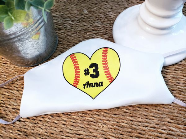 Personalized Softball Fastpitch Satin Face mask