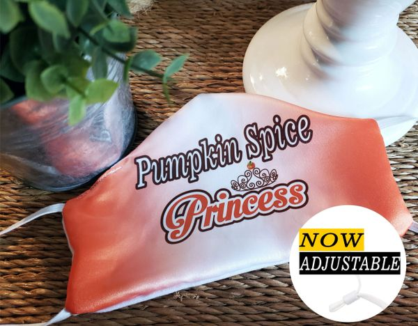 Pumpkin Spice Princess Satin Face mask