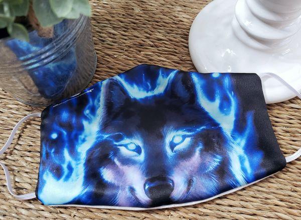 Wolf Satin Face mask