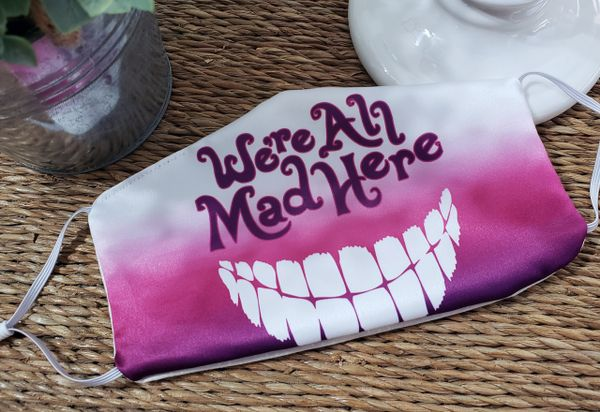 Cheshire Cat Alice in Wonderland Satin Face mask