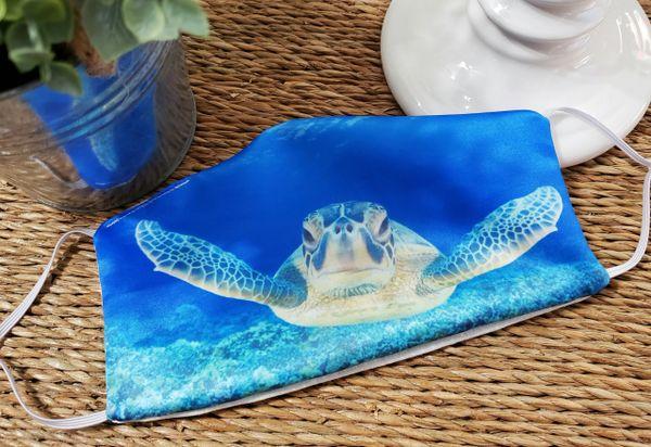 Sea Turtle Satin Face mask