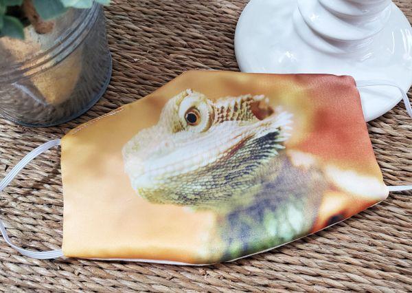 Bearded Dragon Lizard Satin Face mask